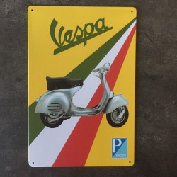PLAQUE METAL VESPA 04