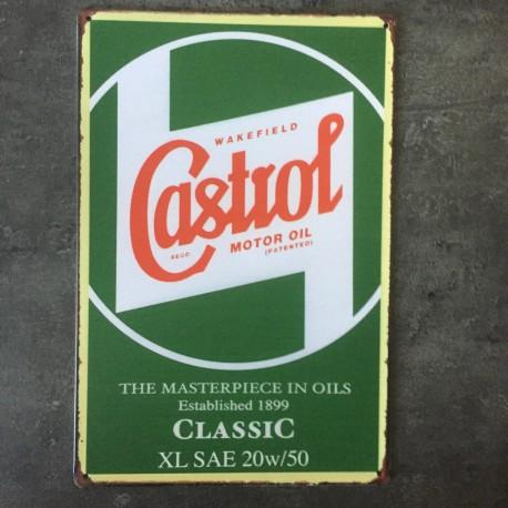 PLAQUE METAL CASTROL 08