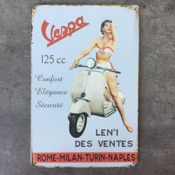 PLAQUE METAL VESPA 14