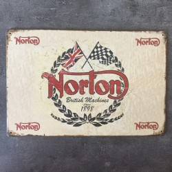 PLAQUE METAL NORTON 24