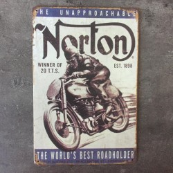 PLAQUE METAL NORTON 25