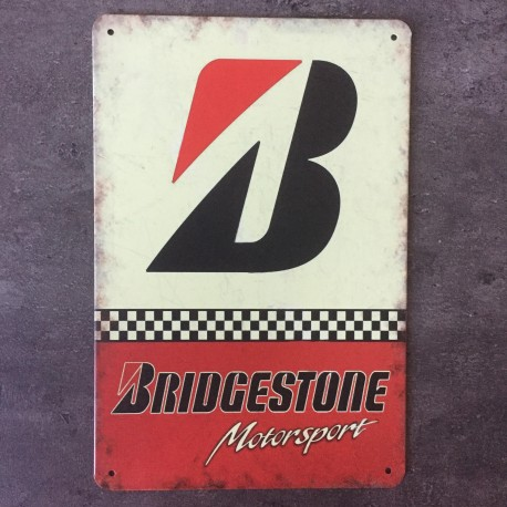 PLAQUE METAL BRIDGESTONE