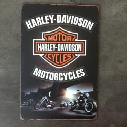 PLAQUE METAL Harley 28