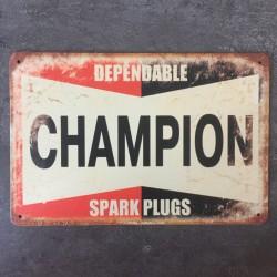PLAQUE METAL CHAMPION 31