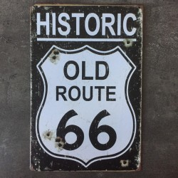 PLAQUE METAL HISTORIC 32