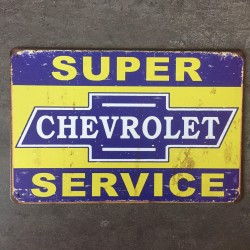 PLAQUE METAL CHEVROLET 37
