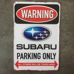 PLAQUE METAL SUBARU 40