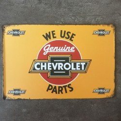 PLAQUE METAL CHEVROLET 43