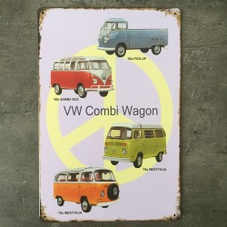 PLAQUE METAL VW 61