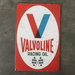 PLAQUE METAL VALVOLINE 69