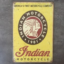 PLAQUE METAL INDIAN 83