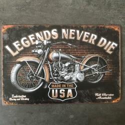 PLAQUE METAL Legends 85