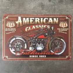 PLAQUE METAL american 86