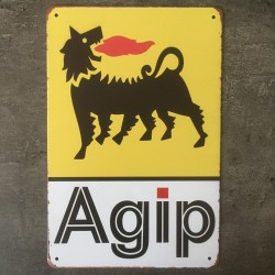 PLAQUE METAL agip 88