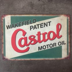 PLAQUE METAL castrol 90
