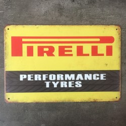 PLAQUE METAL pirelli 96