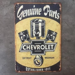 PLAQUE METAL CHEVROLET 103