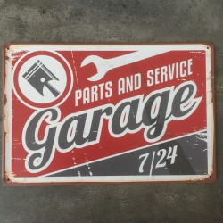 PLAQUE METAL GARAGE 104