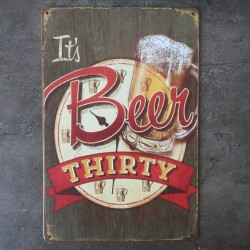 PLAQUE METAL beer 109