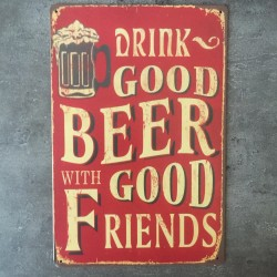 PLAQUE METAL beer 110