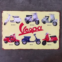 PLAQUE METAL vespa 129