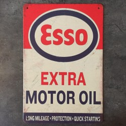 PLAQUE METAL esso 133