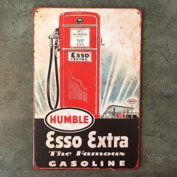 PLAQUE METAL esso 134