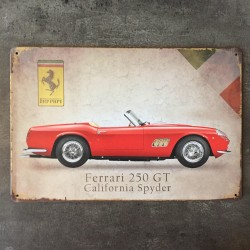 PLAQUE METAL ferrari 142