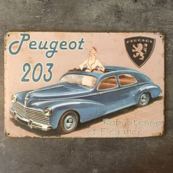 PLAQUE METAL porsche 145