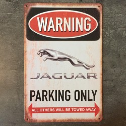 PLAQUE METAL jaguar 147