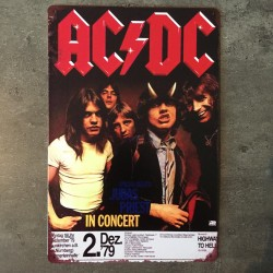 PLAQUE METAL ACDC 157