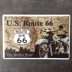 PLAQUE METAL route 181