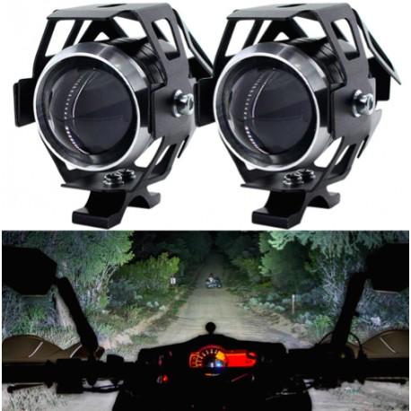 Paire De Phare moto LED additionnel universel