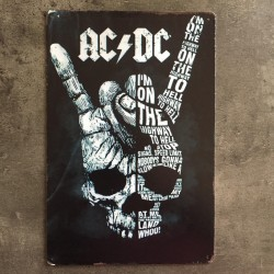 PLAQUE METAL ACDC 201